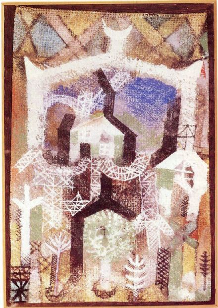 Klee, Paul: Summer Houses (1919). Fine Art Print/Poster. Sizes: A4/A3/A2/A1 (001457)